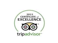 Trip Advisor Certification of Excellence 2015