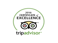 Trip Advisor Certification of Excellence 2016